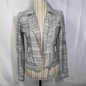 Anthropologie Caitlin Knit Moto Jacket